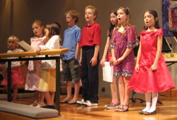 The F.R.O.G.S. Choir sang as part of the Children's Benefit Concert to raise $5,000 for an Ark of Animals from Heifer International.