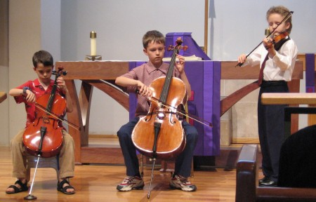 Trio with two 'celli and violin