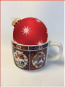 tea cup and Christmas ornament graphic