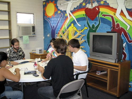 The Youth Group meets in the Rainbow Room during the Christian Education hour.