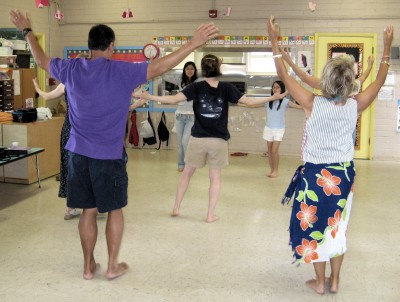 Hula lessons as part of Summer Sundays