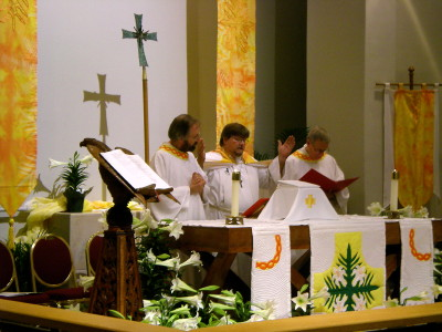 """Alleluia, Christ is risen!"" at the Easter Vigil"