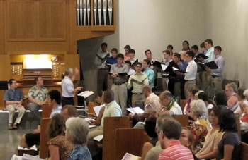 The Lehigh University Glee Club singing the psalm during choral eucharist.