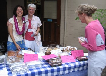 Members of the Social Ministries Committee at the Courtyard Bakery